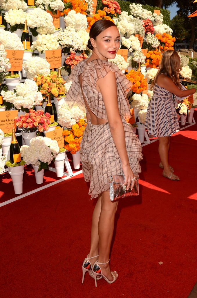At the Veuve Clicquot Polo Classic, Ashley Madekwe looked flawless from every angle in her ruffled ZImmermann party dress.
