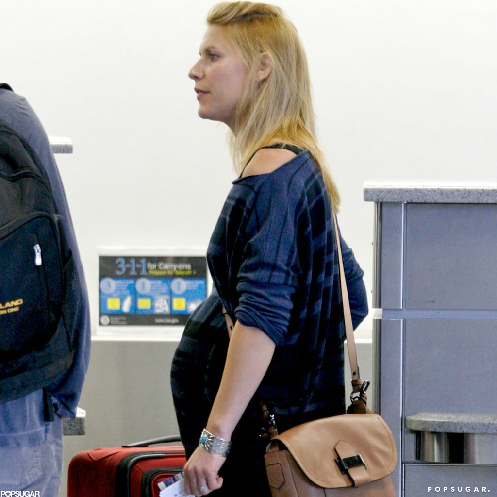 Claire Danes caught a flight after the Emmys.