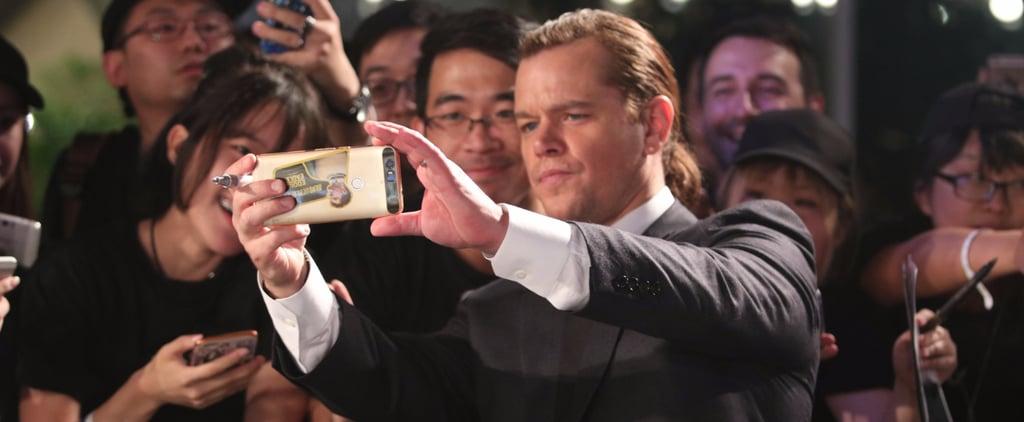 Matt Damon Sports a Man Bun (Again) While Promoting His Film in China