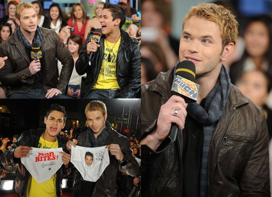 Photos of Kellan Lutz Promoting New Moon at MuchMusic in Toronto 2009-11-14 10:00:00