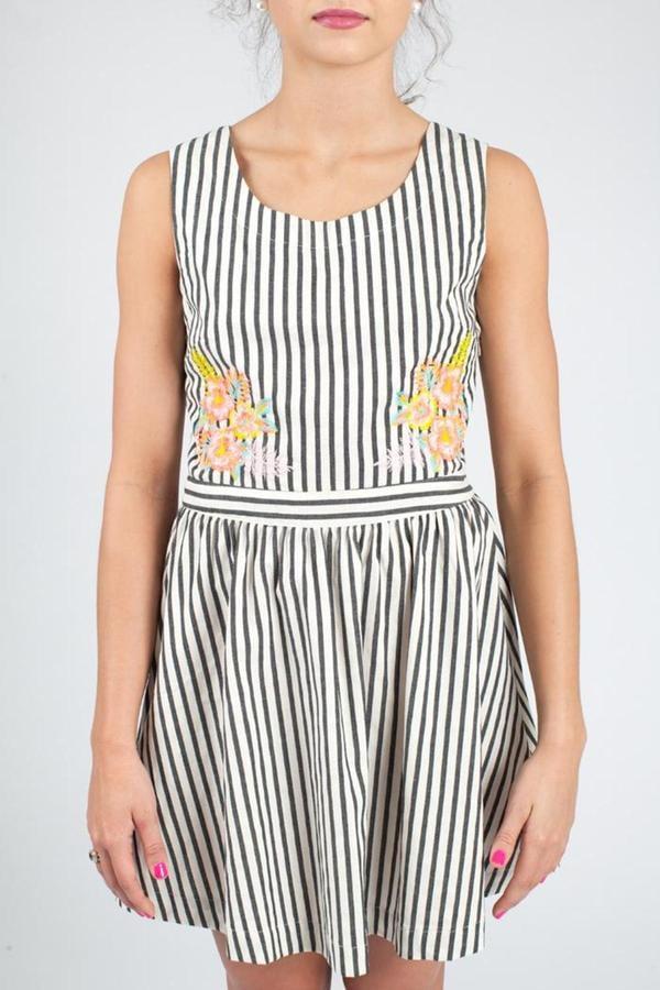 JOA Striped Dress