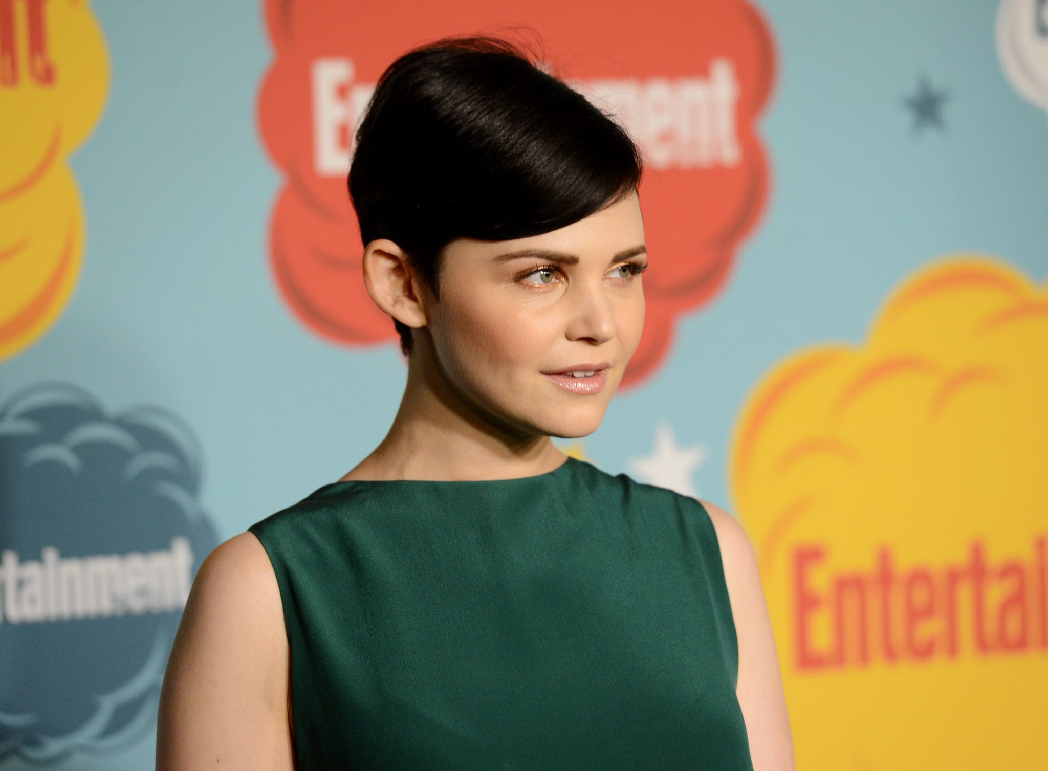 With gilded eye shadow and a '60s bouffant, Ginnifer Goodwin was full-on vintage vixen at Entertainment Weekly's annual Comic-Con Celebration.