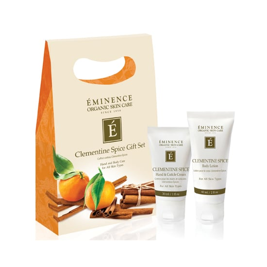 If you could bottle the scents of the season, you'd get the contents of Eminence Clementine Spice Gift Set ($30). Cinnamon, nutmeg, and black pepper oils lend a fresh, earthy aroma, all while softening and stimulating the skin. This two-piece kit comes with a body lotion and hand and cuticle cream. Read: all your hostess-gift worries have just melted away. — JR