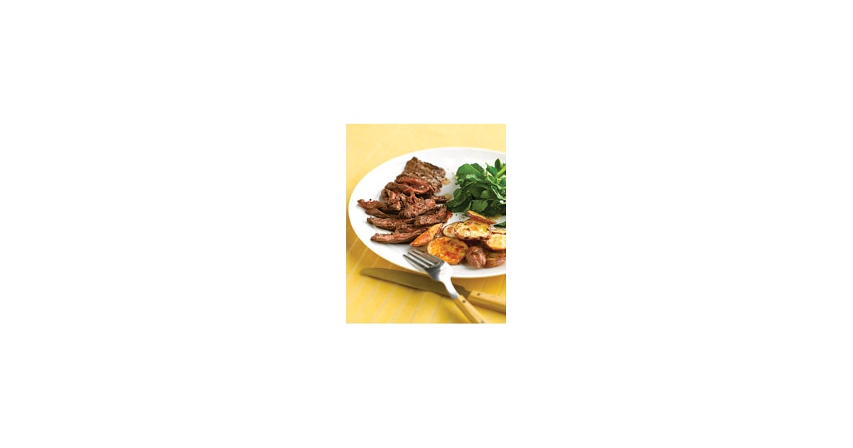 ... Easy Dinner: Skirt Steak With Crispy Garlic Potatoes | POPSUGAR Food