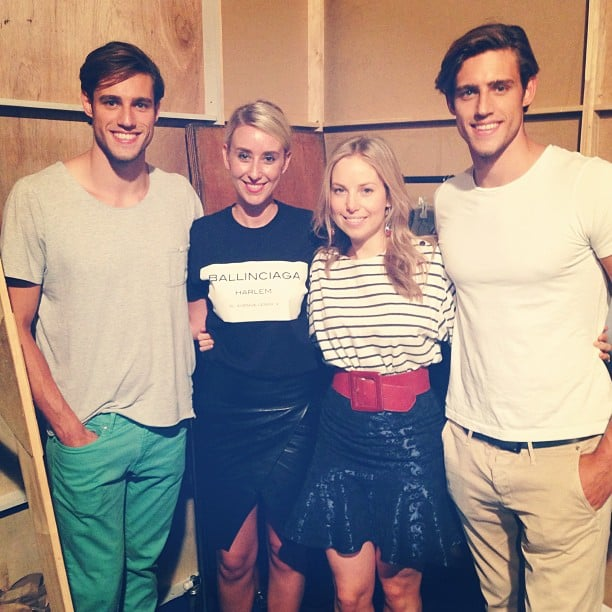 Alison and Alison meet Stenmark and Stenmark! Fabsugar and BellaSugar met model twins Jordan and Zac backstage at the DJs show, and still can't get over how lovely they are.