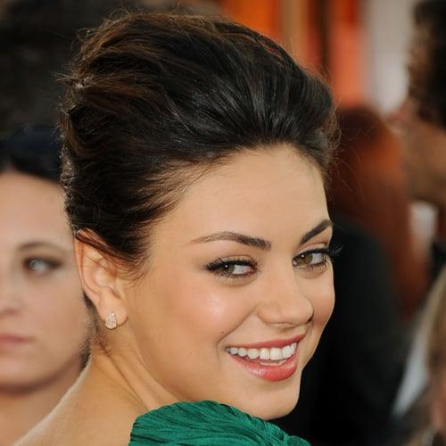 Mila Kunis Golden Globes 2011 Makeup and Hair Tutorial