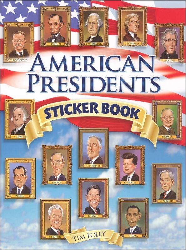 American Presidents Sticker Book