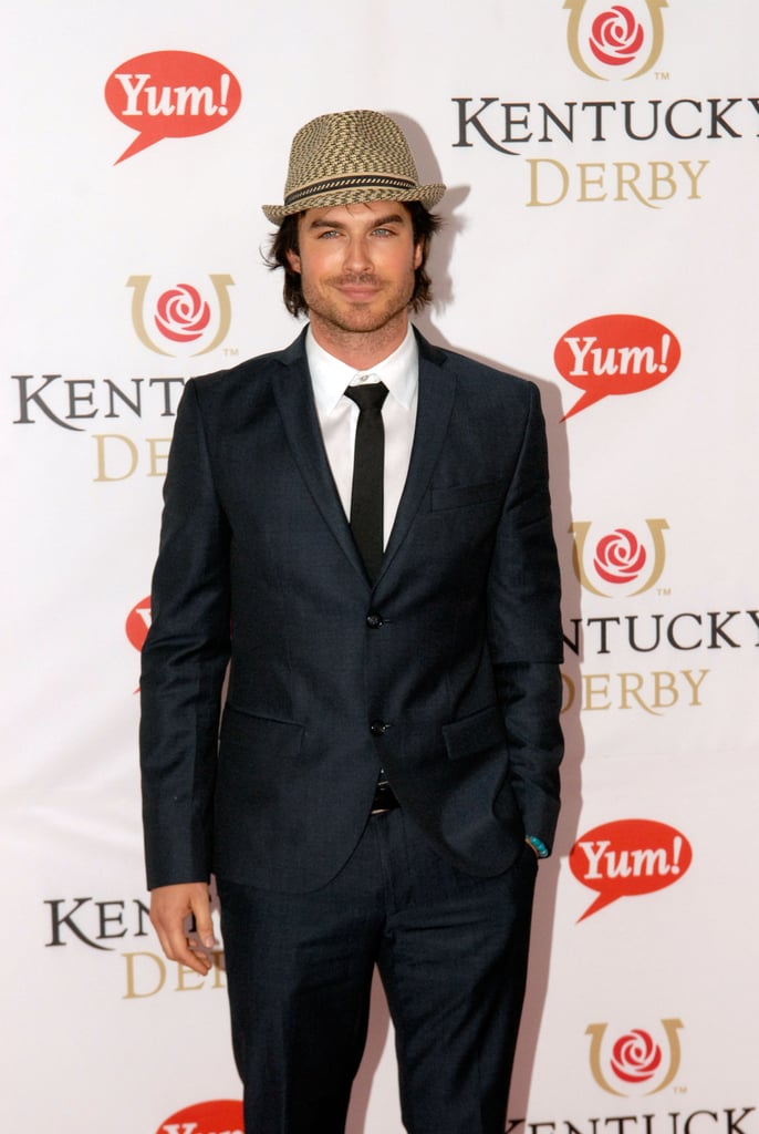 Ian Somerhalder wore a suit to Churchill Downs for the event in 2011.