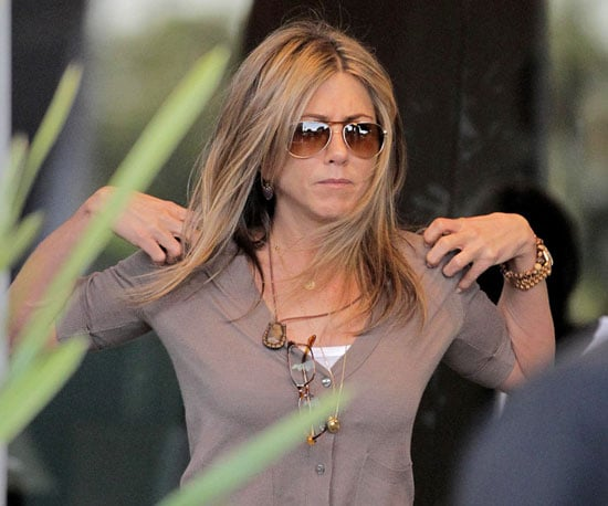 Photos of Jennifer Aniston on the Set of Just Go With It in Beverly Hills