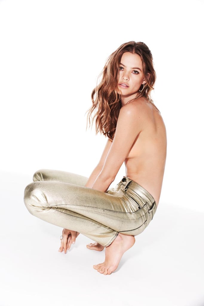Behati shows off a cool metallic shine in Juicy Couture's Jean campaign.