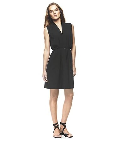 Whether you decide to rock your LBD with kicks or soup it up with sexy metallic sandals and a textured clutch, the bottom line is this: every stylish city-goer has an LBD in her suitcase. Francisco Costa by Calvin Klein Sleeveless Viscose Crepe Dress ($120, originally $165)
