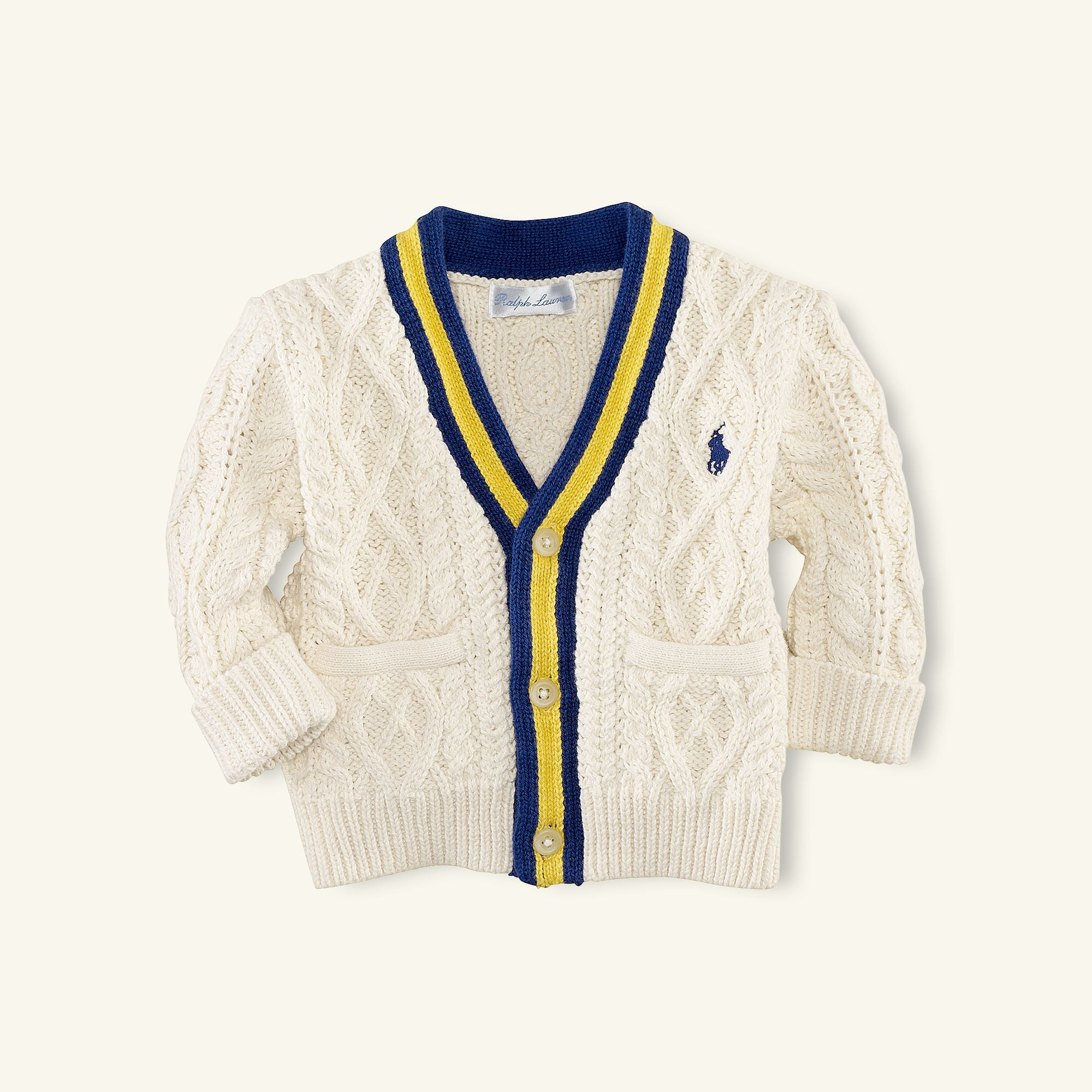 Ralph Lauren V-Neck Cricket Cable Cardigan