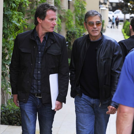George Clooney and Rande Gerber Having Lunch | Pictures