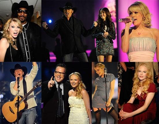 Photos of CMA Awards 2008 Carrie Underwood, Taylor Swift, Nicole Kidman