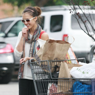 Jessica Alba Laughing and Shopping in LA
