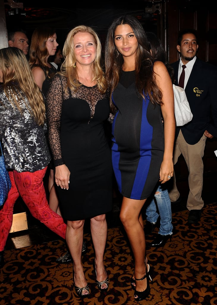 Nicole Gets Cute With Joel and Camila Shows Her Bump at a Glam Event