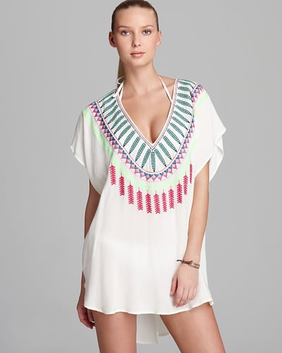 Mara Hoffman Medicine Wheel Embroidered Poncho Cover Up