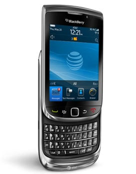 Pictures of the BlackBerry Torch 9800