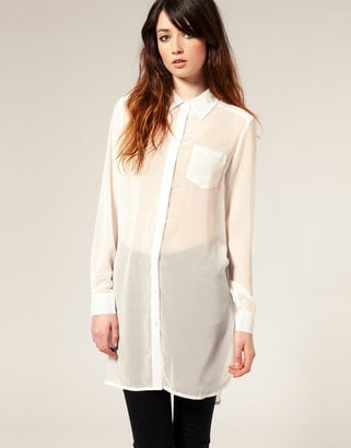 Just Female Oversize Sheer Chiffon Shirt ($117)