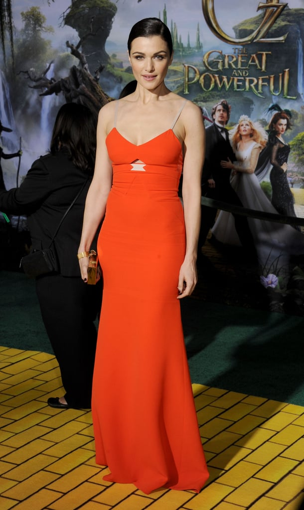 Rachel Weisz glowed in Victoria Beckham on the red — or rather, the Yellow Brick Road – carpet at the premiere of OZ the Great and Powerful.