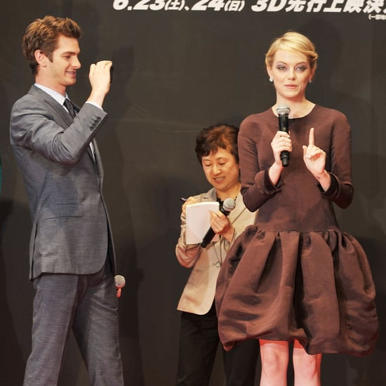 Andrew Garfield Emma Stone Pictures in Japan