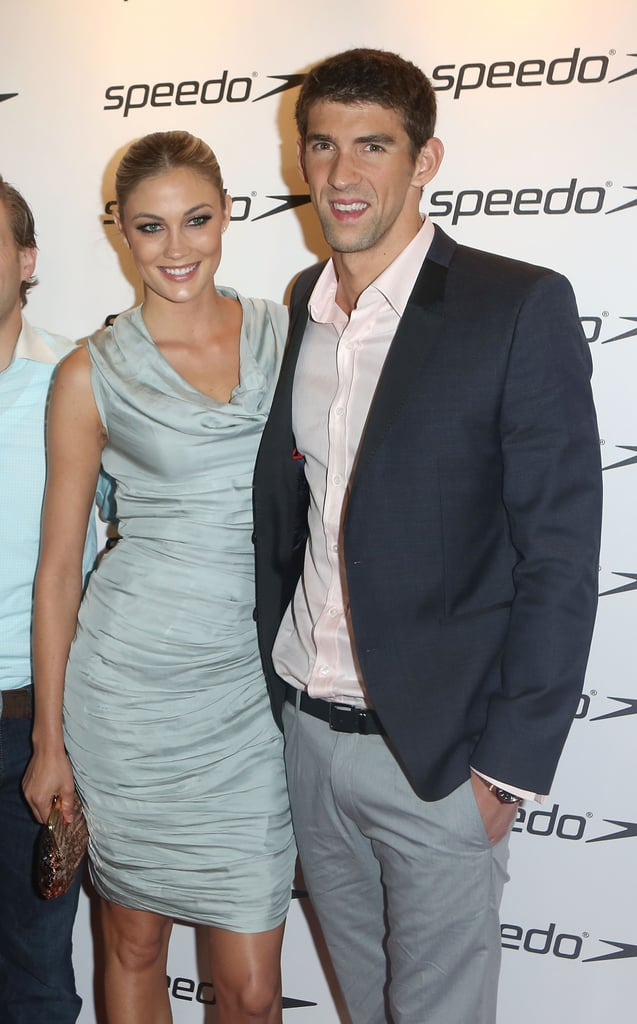 Michael Phelps and girlfriend Megan Rossee posed together on the red carpet.