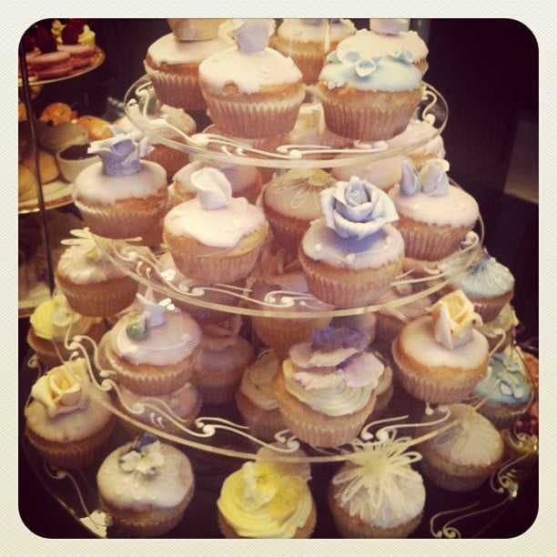 At the Hello Darling nail polish launch, these cupcakes were too pretty to eat! Almost.