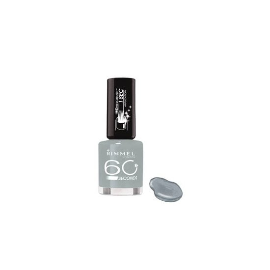 Rimmel London 60 Seconds Nail Colour in Grey Matter, $7.95