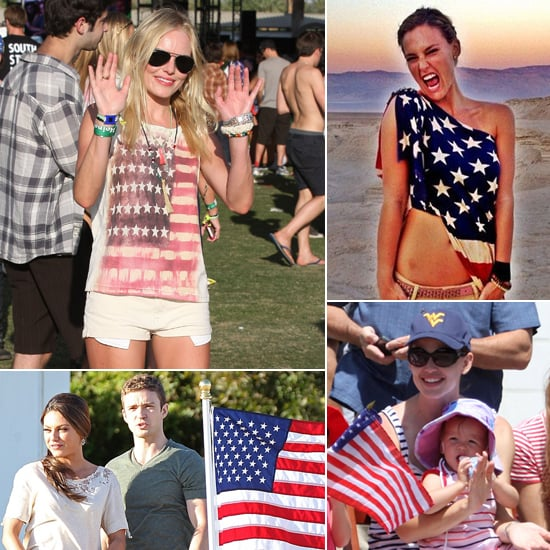 Stars Show Their Red, White, and Blue