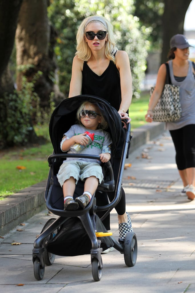 Gwen Stefani and Zuma head to the zoo in London.
