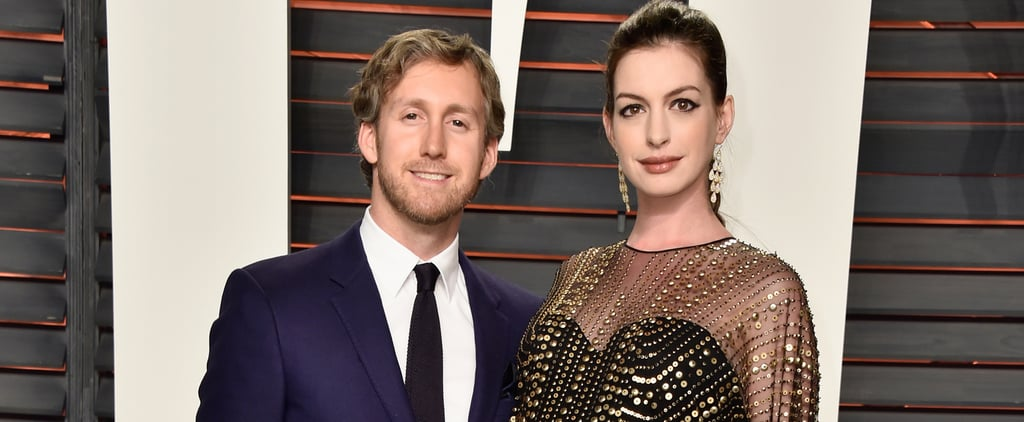 Anne Hathaway Flaunts Her Baby Bump From All Angles at Vanity Fair's Oscars Afterparty