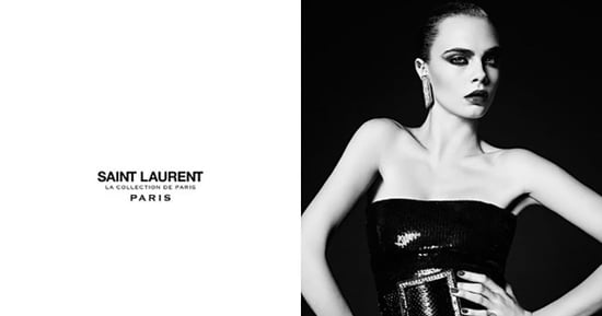 Hedi Slimane Put Cara Delevingne in His '80s-Inspired Couture Ads