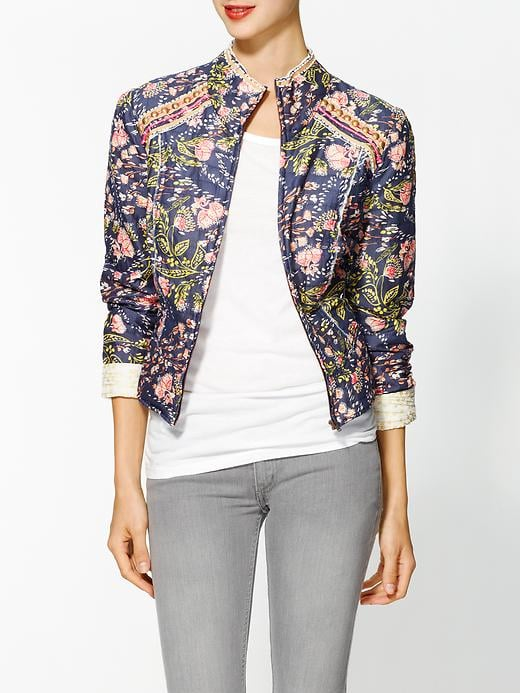 Free People's Meadow Jacket ($148) has a fabulous stand-up collar and a funky cool print. Top it over an all-white or all-black outfit so it can shine.