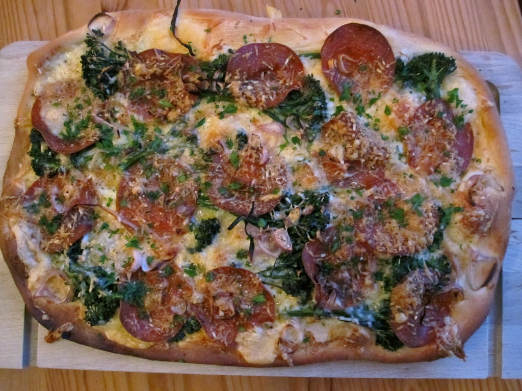 Pepperoni and Broccoli Rabe Pizza