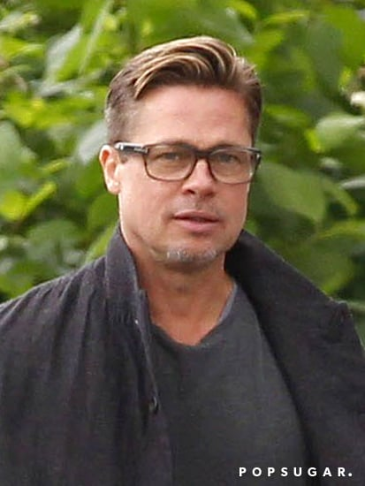 Brad-Pitt-showed-off-his-short-hair-London