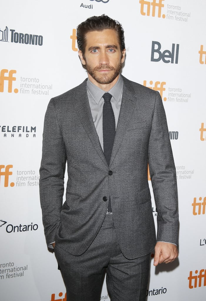 He showed off facial scruff and slicked-back hair at the Toronto International Film Festival in September 2013.