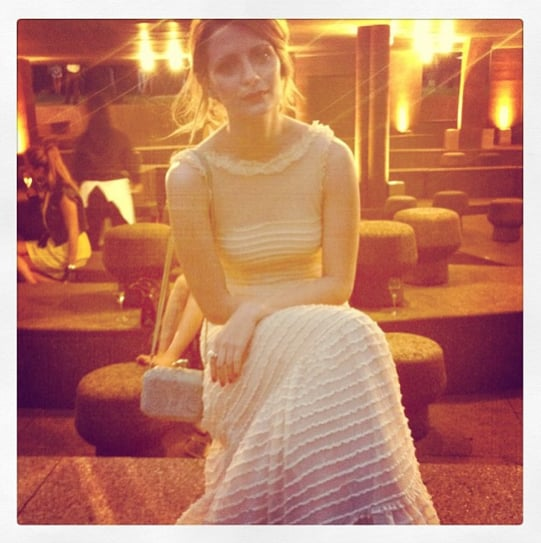 Mischa Barton looked beautiful in white.