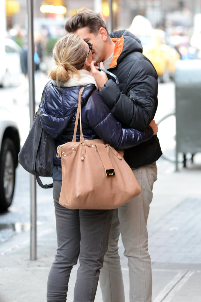 Scarlett Johansson and Romain Dauriac locked lips on the streets of NYC in December 2012.