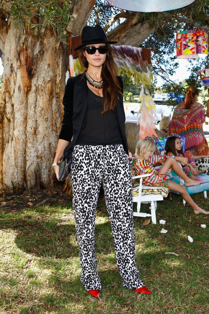 Breezy printed pants made this blazer combo feel effortless.