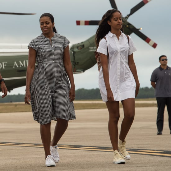 Michelle Obama Wearing Converse August 2016
