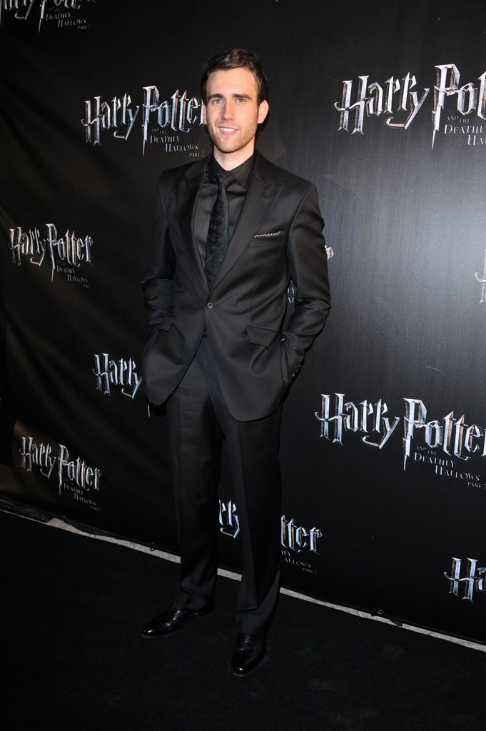 Matthew Lewis poses for Harry Potter.