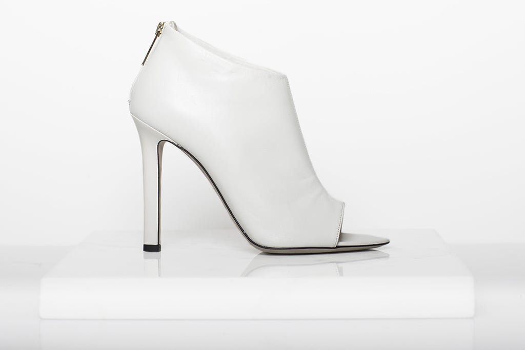 Desire Nappa Open Toe Bootie in Cream ($795) Photo courtesy of Tamara Mellon
