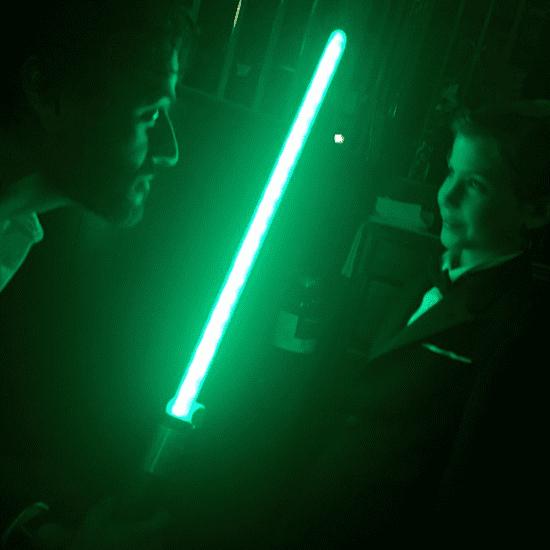 Oscar Isaac and Jacob Tremblay Have a Jedi Battle