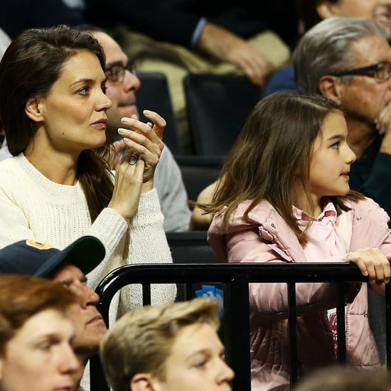 Katie Holmes and Suri Cruise at Basketball Game March 2016