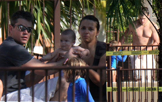 Woman-Loving Shirtless Damon Introduces Gia at the Pool