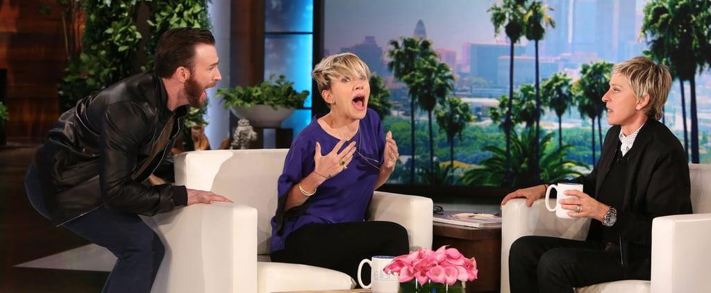 Chris Evans Scares the Sh*t Out of Scarlett Johansson on Ellen