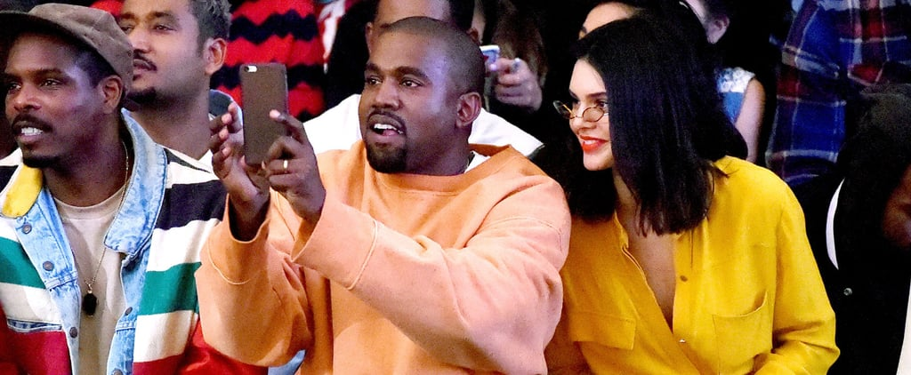 Kendall Jenner Bonds With Brother-in-Law Kanye West at a Fashion Show