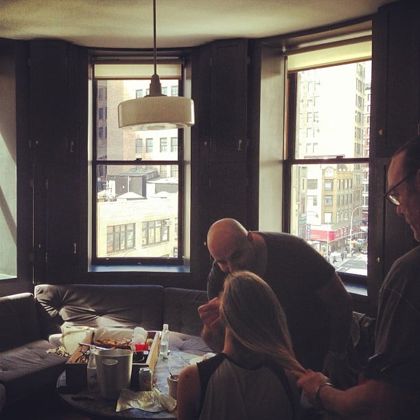 Brooklyn Decker gave us a sneak peak of her Met Gala makeup prep (nice view!). Source: Instagram user brooklynddecker