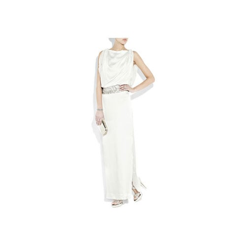 Clea Embellished Hammered Silk-Satin Gown