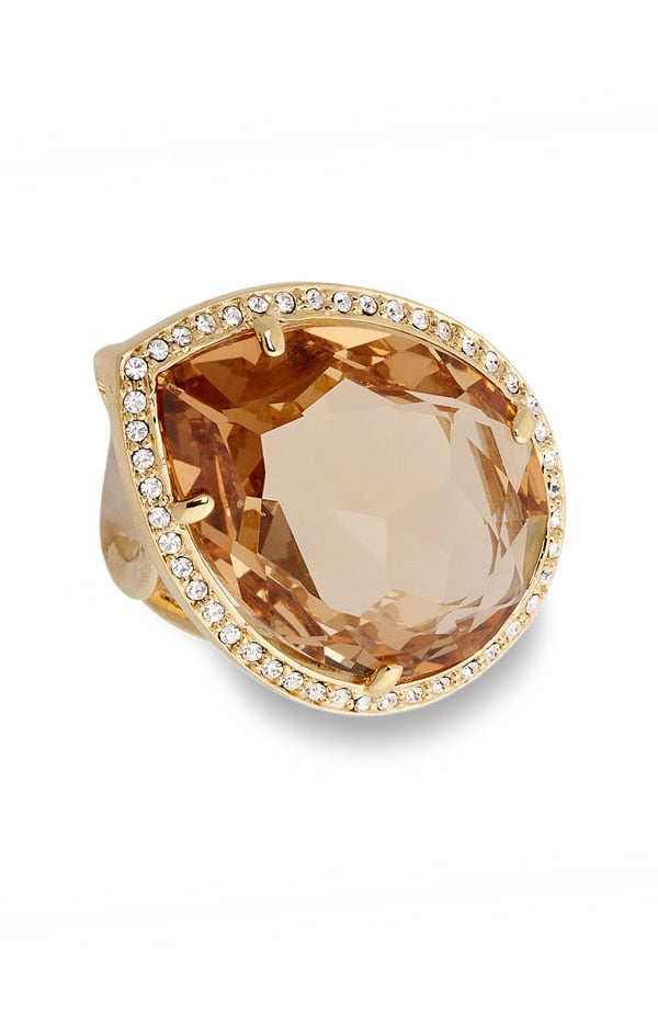 Nordstrom Crystal Collection Oversize Teardrop Crystal Ring